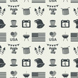 Independence Day seamless pattern.