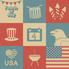 Independence Day icons.
