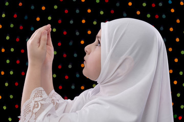 Young Muslim Girl Prayer