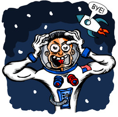 Cosmonaut in space - joke