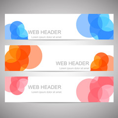 Horizontal colorful web header or banner