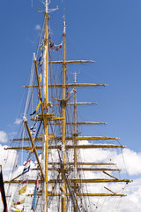 Masts of a Tall Ship