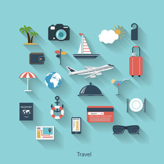 Travel and tourism modern concept in flat design