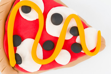 Plasticine  pizza.