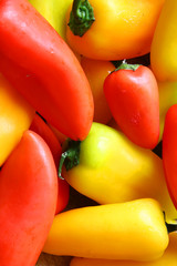 Colllection of Fresh, Sweet Red and Yellow Peppers Background