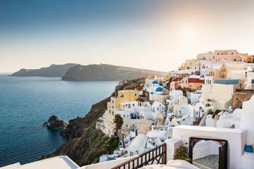 Beautiful white architecture on Santorini island, Greece