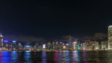 Time lapse of Symphony of Lights show at Central Hong Kong