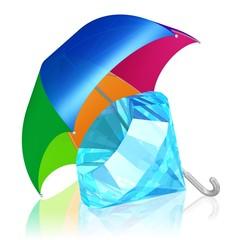 Diamant unterm Schirm