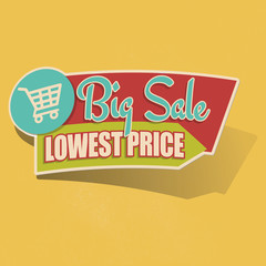 Retro Big Sale Lowest Price Sticker