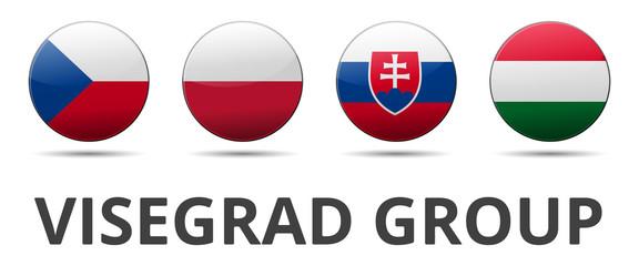 V4 Visegrad group - Czech republic, Poland, Slovakia, Hungary
