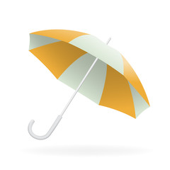 Vector illustration of opened umbrella
