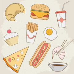 Food and Drink Vector Hand Drawn Icons