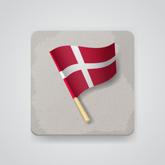 Denmark flag, vector icon