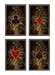 Set poker cards, vector illustration