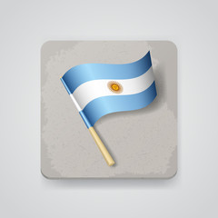 Argentina flag, vector icon
