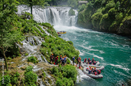 Rafting on Una river at Strbacki Buk