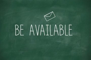 Be available handwritten on blackboard