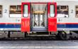 Leinwandbild Motiv open doors from a train