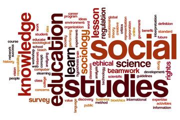 Social studies word cloud