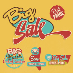 Retro Big Sale Labels