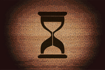 Sand clock. Glass timer . Flat modern web design