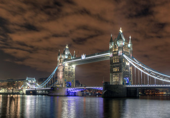 Tower bridge at night - London