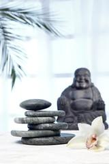 Buddha Statue, Hot Stones