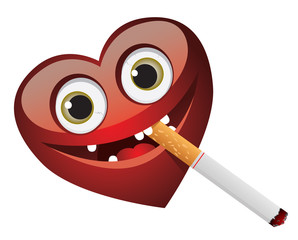 Heart and cigarette