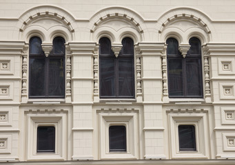 Window of building in Moscow, Russia