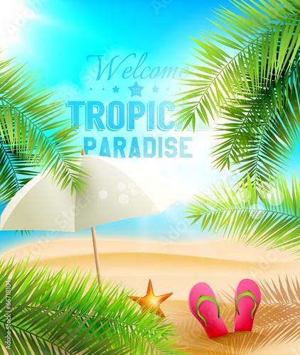 Tropical Paradise vector design