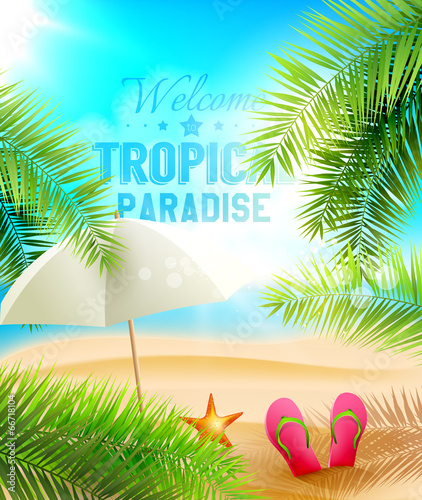 Tropical Paradise vector design