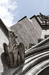 Gorgoyle, detail from St. Othmar's church, Vienna