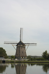 Traditional Dutch windmill, near Amsterdam, Netherlands