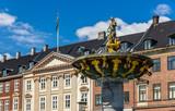 Caritas Fountain on Gammeltorv in Copenhagen, Denmark