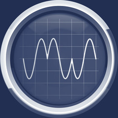 Signal with phase modulation (PM) in blue tones
