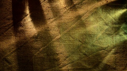 background of old  sack with light and shadow,locked down