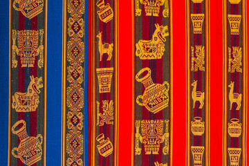 typical andean textile Peru