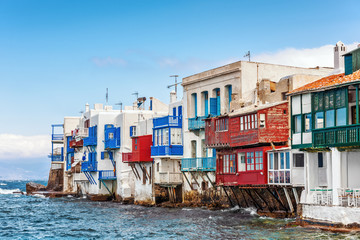 Little Venice waterfront in Mykonos