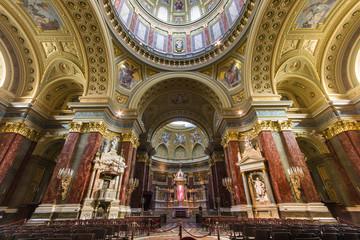 Interior of St. Stephen's Basilica, Budapest, Hungary