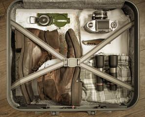 Reisevorbereitung, Koffer packen