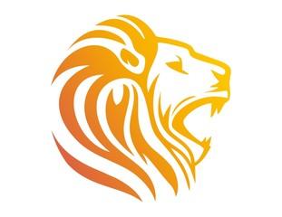 lion logo,lion head symbol,silhouette carnivore icon