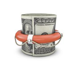 Life ring money roll dollars