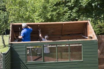 Demolishing a garden shed