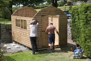 Erecting a new garden shed