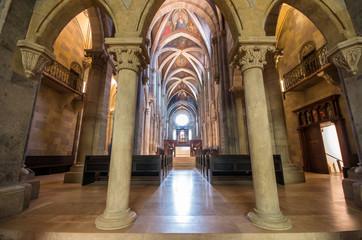Interior of Pannonhalma basilica, Pannonhalma, Hungary