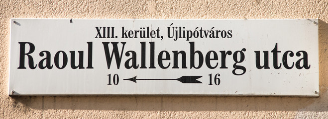 raoul wallenberg street sign