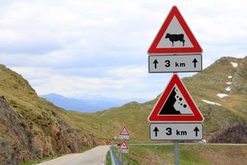 Achtung - Gefahren im Gebirge