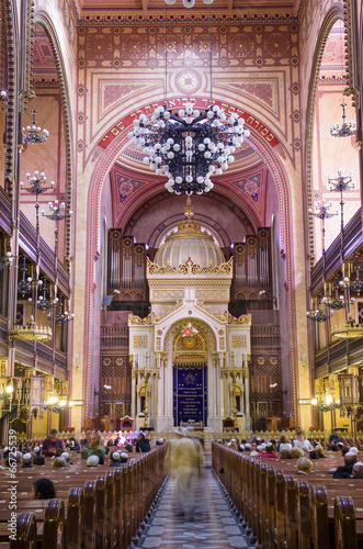 Dohany Street Synagogue (Great synagogue) interior in Budapet, H - 66725539
