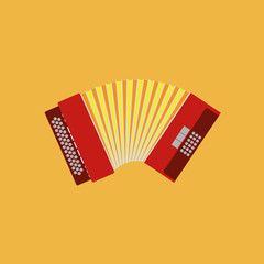 Abstract Colorful Accordion Isolated On Color Background