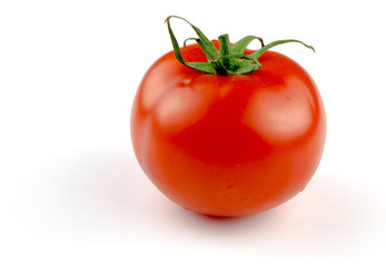 Tomato on white. with clipping path